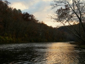 November sunset on the North Fork River