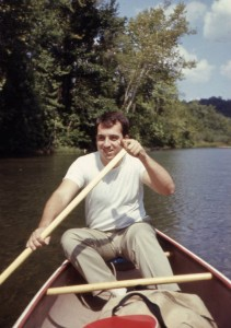 Me in 1966 paddling the North Fork of the White