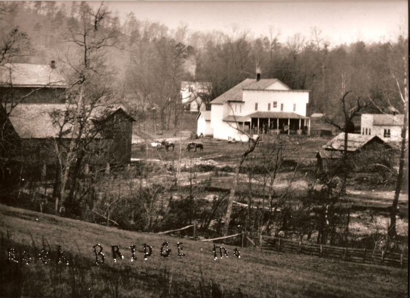 View of Rock Bridge Mill in about 1900