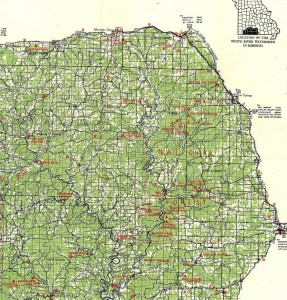 1930's Map of the North Fork Country
