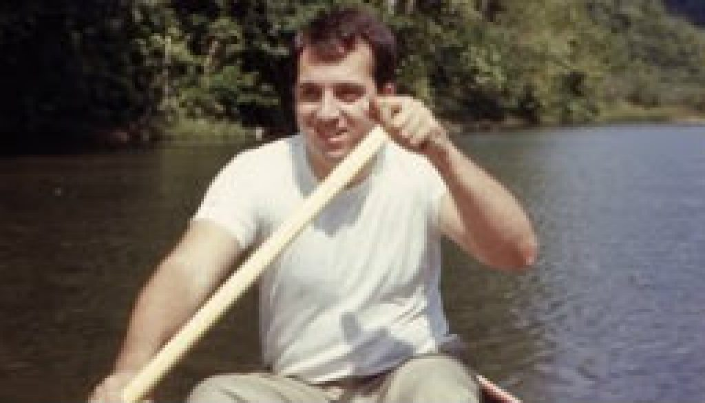 Me in 1966 paddling the North Fork of the White featured