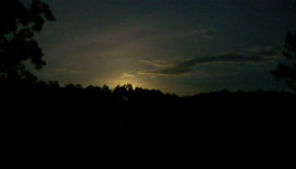 Mid May moonrise from Tree Top Loft deck featuired