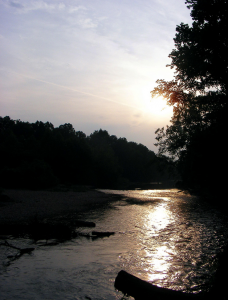 North Fork below Hammond at dusk in May