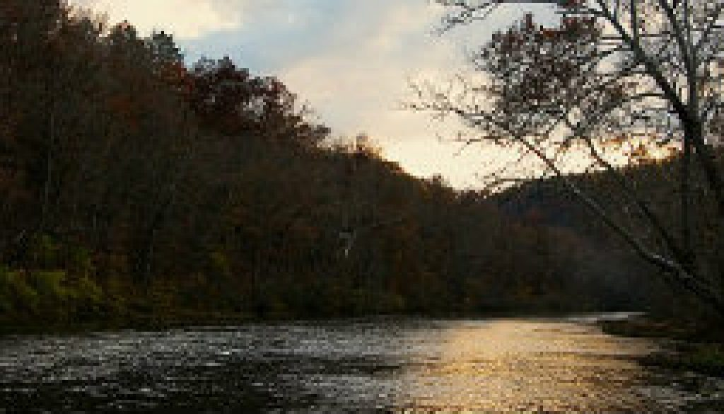 November sunset on the North Fork River featured