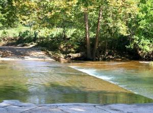 Old low-water Bridge 2 miles below Topaz