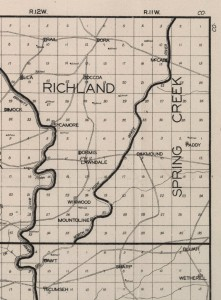 Plat of Dora area in the 1920's