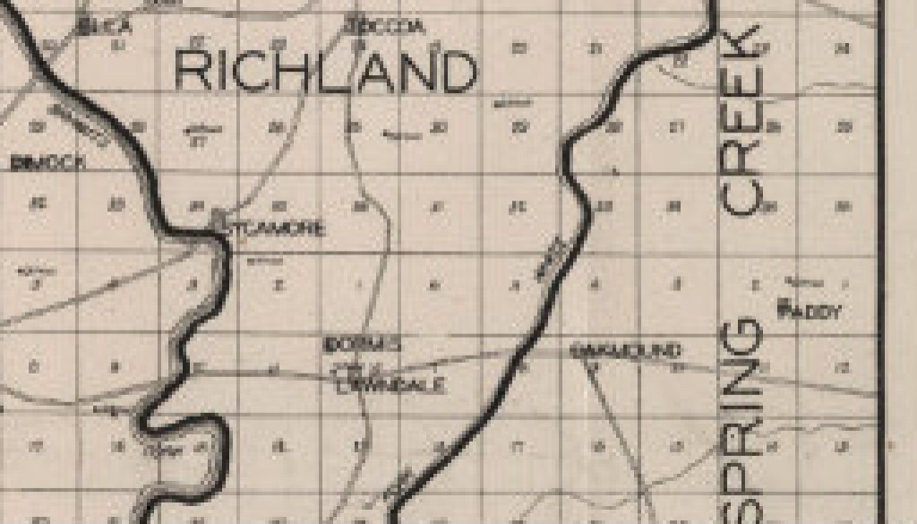 Plat of Dora area in the 1920's featured
