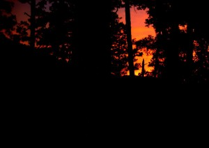 Sunset from Whispering Pines cabin
