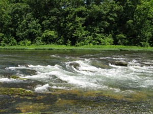 The Falls of the North Fork at 395 CFS