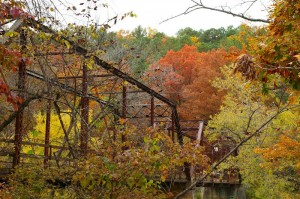 The bridge over the North Fork at Hebron 23 Oct