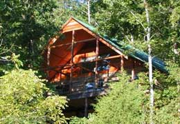 Ozarks vacation camping log house rental