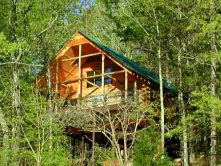 Missouri Mountain Log Lookout Vacation Ozarks
