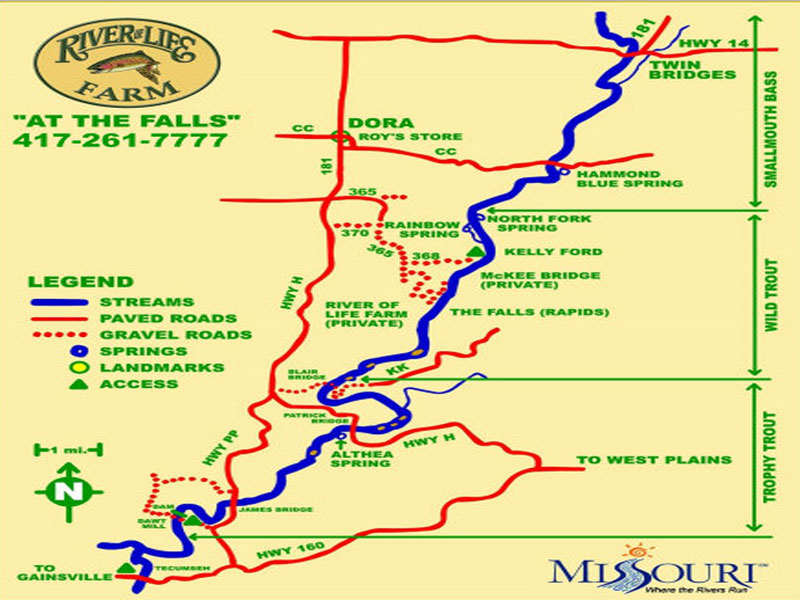 Directions to River of Life Farm  Missouri Ozarks Premier
