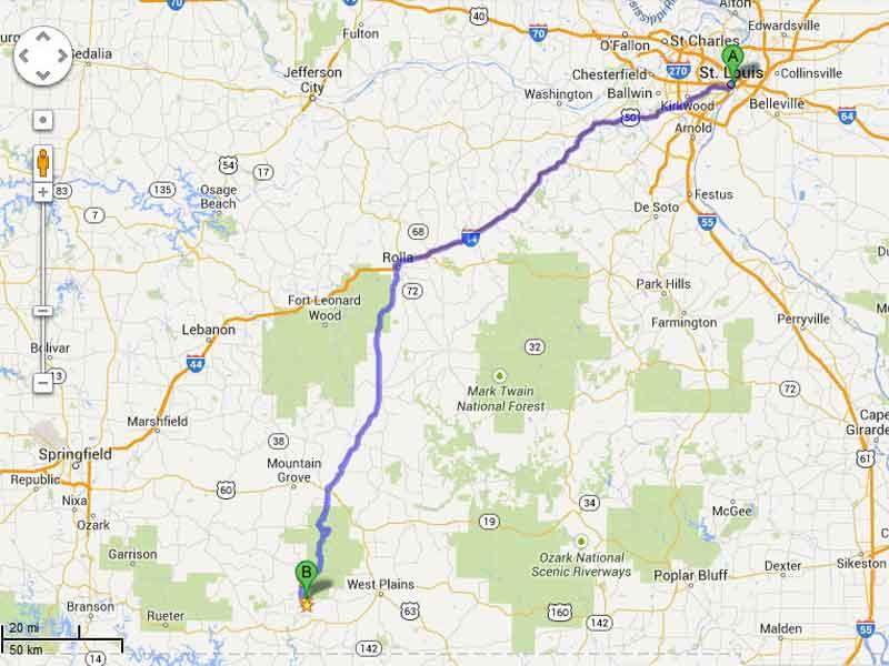 Directions To River Of Life Farm Missouri Ozarks Premier Vacation - Branson map pdf