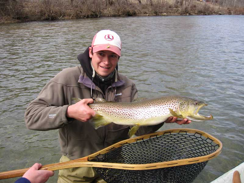 28inch Brown Trout caught a the Falls1