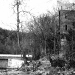 Dawt Mill aerial view and downstream view 1947