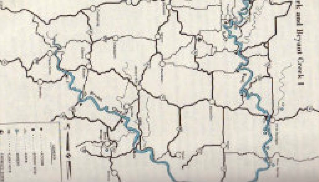 Maps from 1st edition Missouri Ozark Waterways 1965 featured