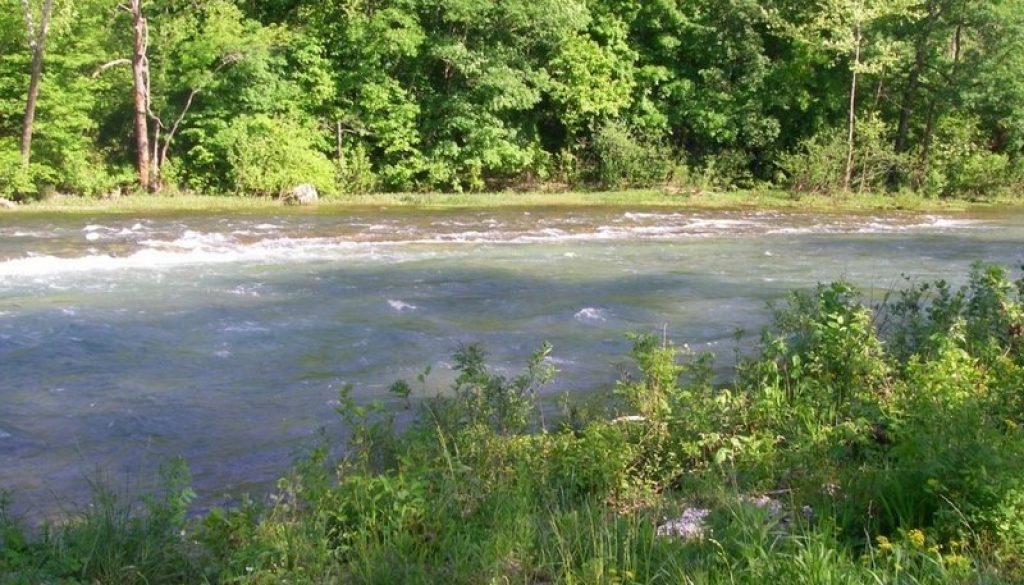 North Fork River (at falls) at 1900-2000 CFS1