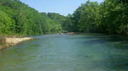 North Fork River looking upstream from McKee Bridge featured