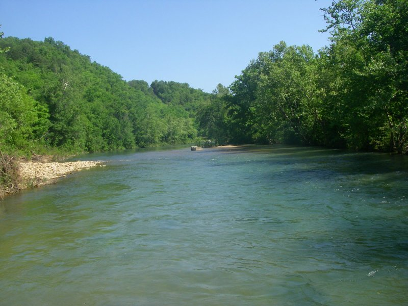North Fork River looking upstream from McKee Bridge