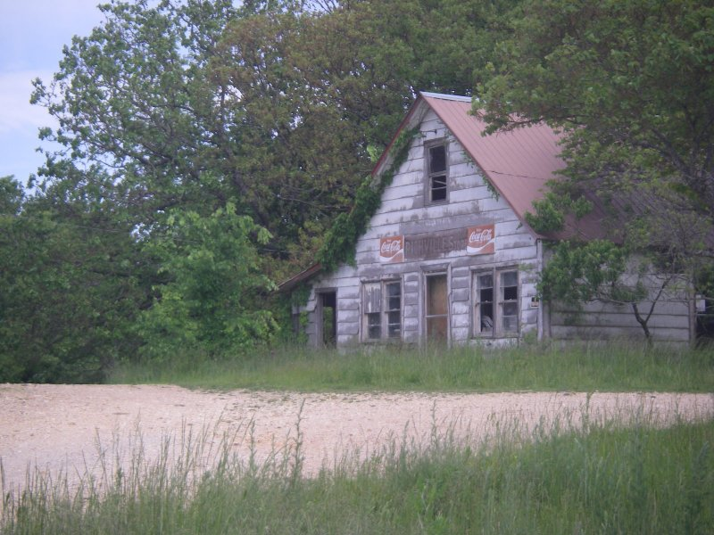 Old buildings at Highway 14 and County W