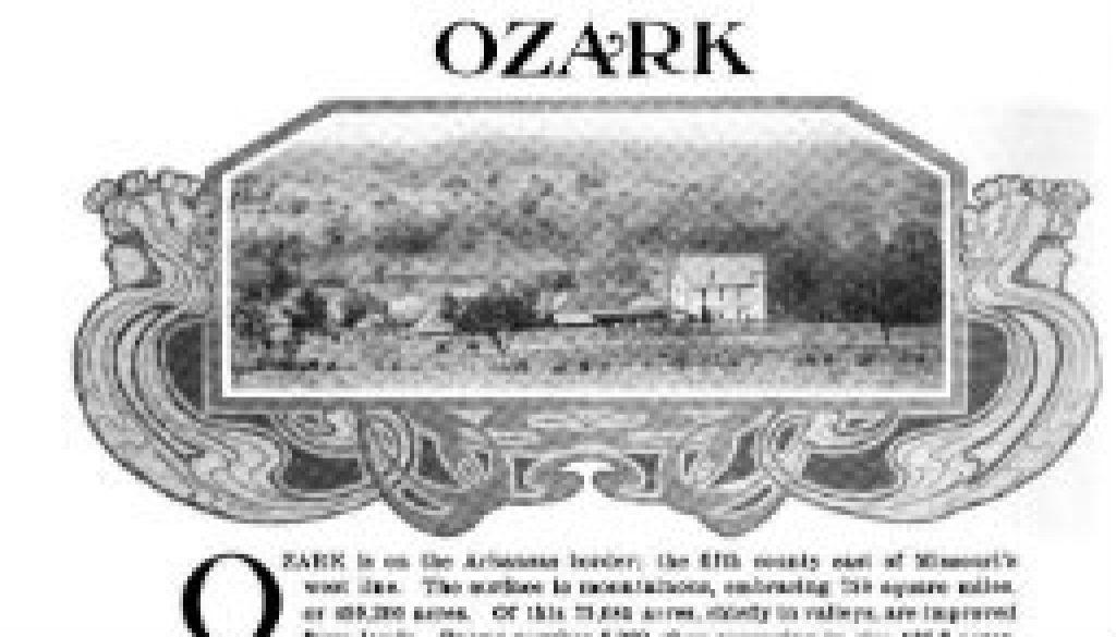 Ozark County Survey from ~ 1900; possibly 1895 featured