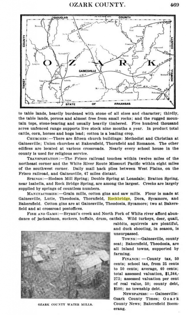 Ozark County Survey from ~ 1900; possibly 1895
