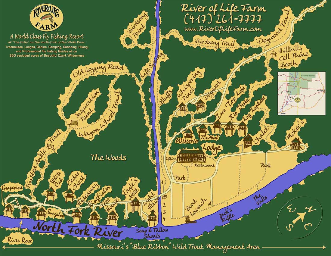 River of Life Farm map