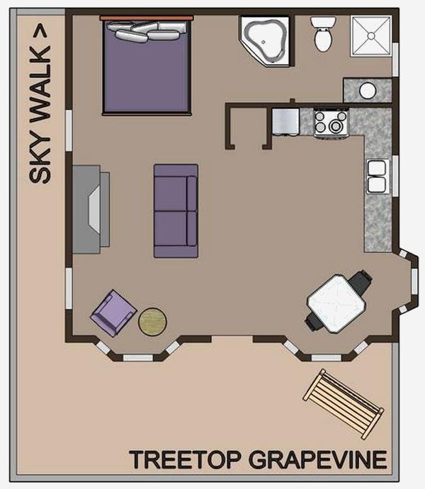 Grapevine Treehouse floor plan