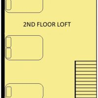 Mountain Log Lookout Floorplan level 2