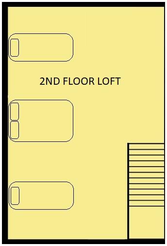 Mountain Log Lookout Floorplan level 2