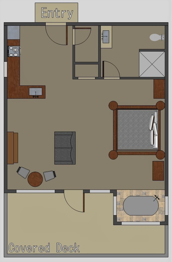 Floor plan for River Falls Cabin