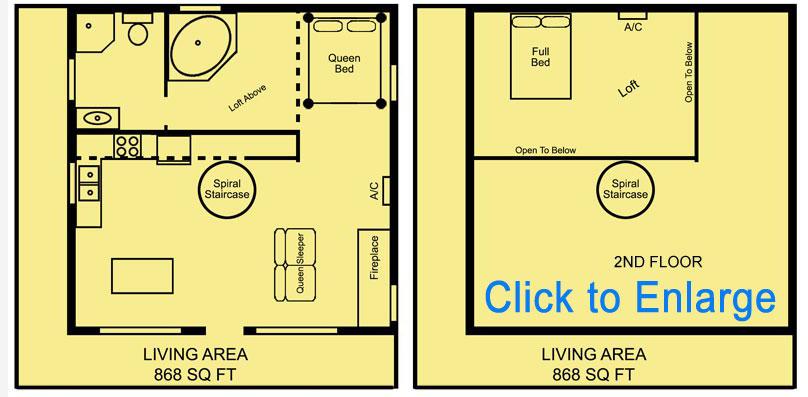 Missouri treehouse Loft floorplan